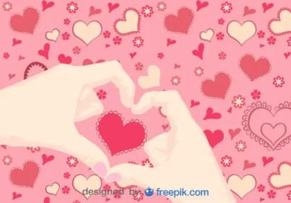 Hands in Heart Shape Free Vector