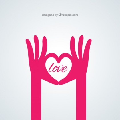 Hands Shaping a Heart Free Vector