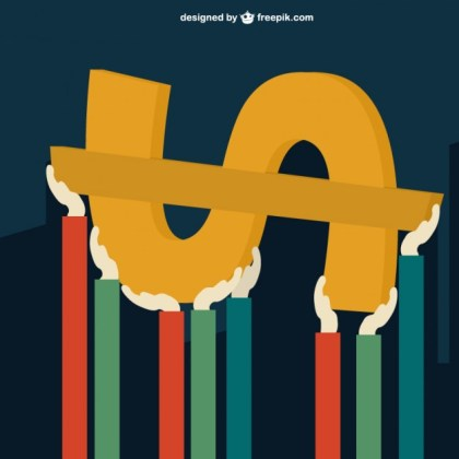 Hands Supporting Dollar Sign Free Vector