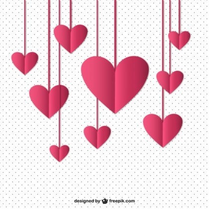 Hanging Hearts Free Vector