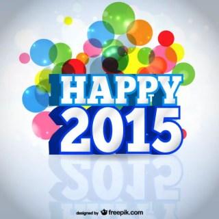 Happy 2015 Card Free Vector