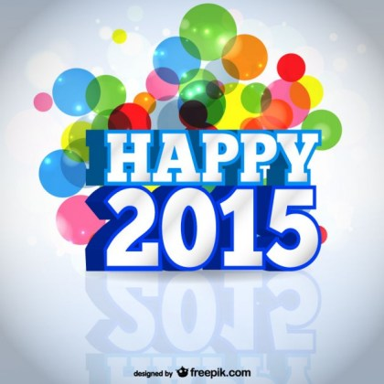 Happy 2015 Card Free Vector