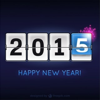 Happy 2015 Modern Free Vector