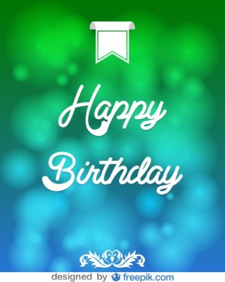 Happy Birthday Message Card Free Vector