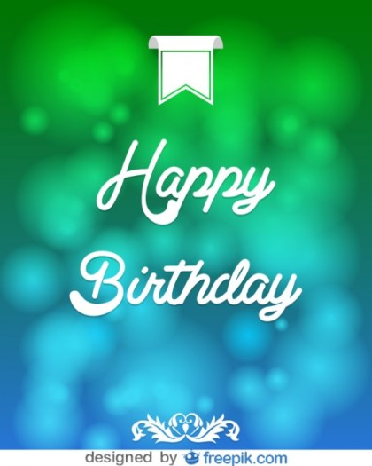 Happy Birthday Message Card Free Vector