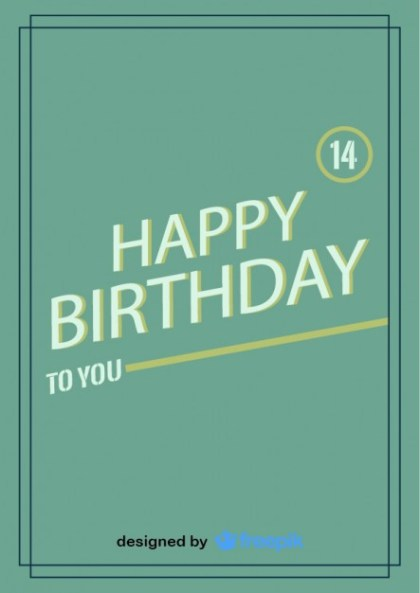 Happy Birthday Postcard Vintage Design Free Vector