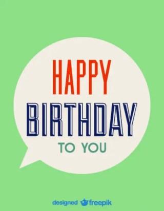 Happy Birthday Speech Bubble Card Free Vector