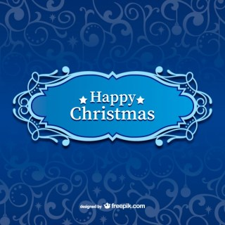 Happy Christmas Label Free Vector