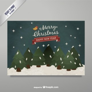 Happy New Year Greeting Card Free Vector