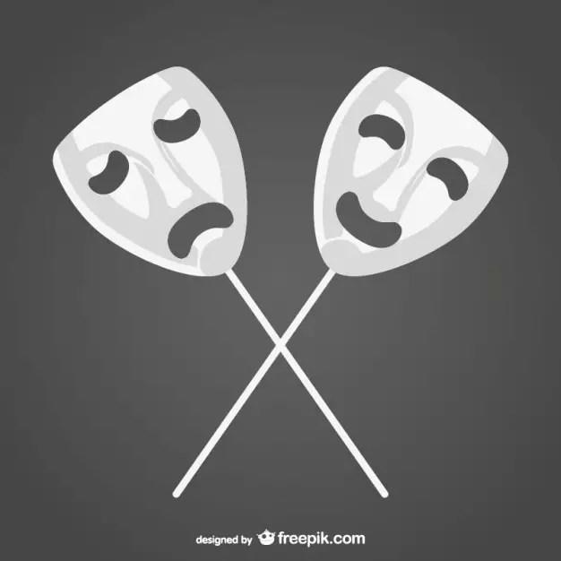 Happy Sad Masks Free Vector