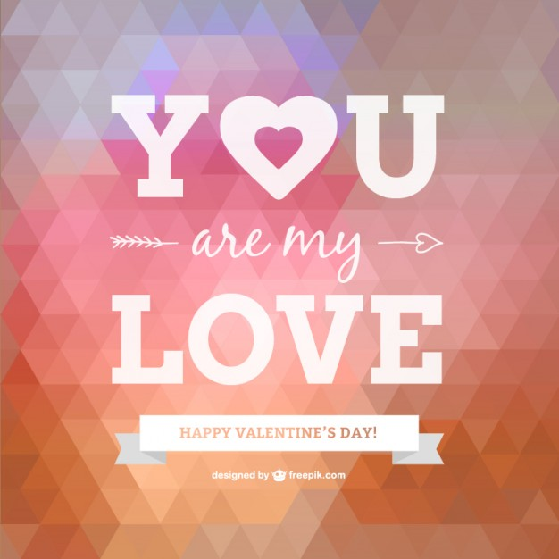 Happy Valentines Day Card Free Vector