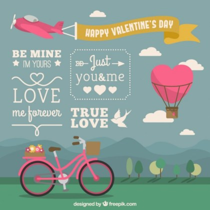 Happy Valentines Day Cover Free Vector