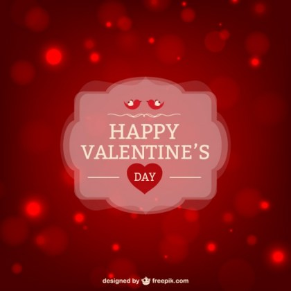 Happy Valentines Greeting Card Free Vector