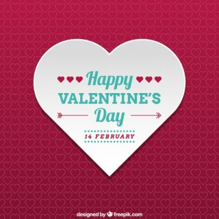 Happy Valentines Heart Card Free Vector