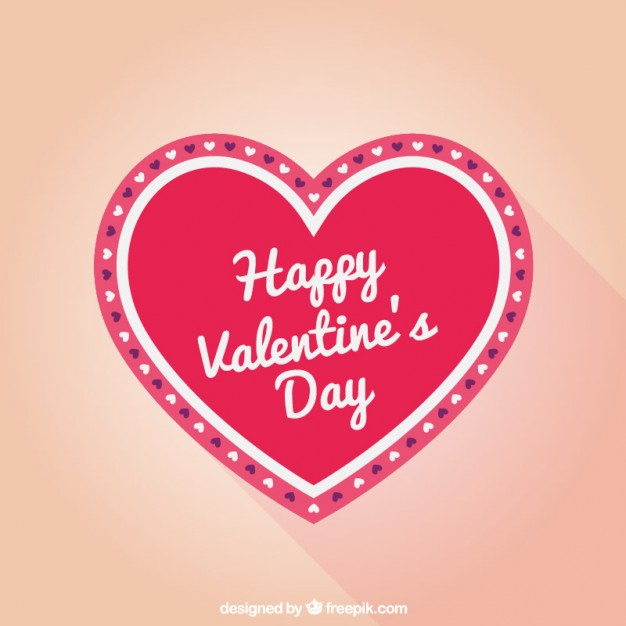 Happy Valentines Heart Greeting Card Free Vector