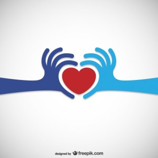 Heart Donation Logo Free Vector
