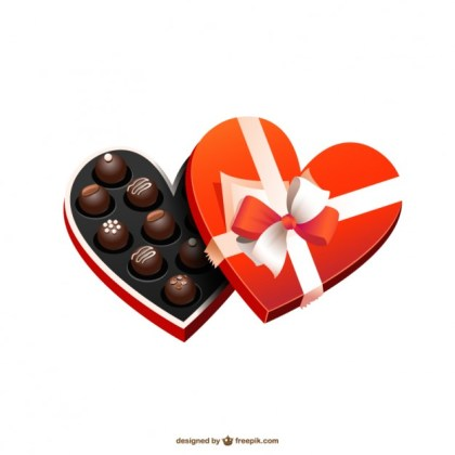 Heart Shaped Chocolate Box Free Vector