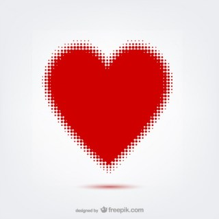 Heart with Dots Free Vector