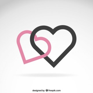 Hearts in Minimalist Design Free Vector