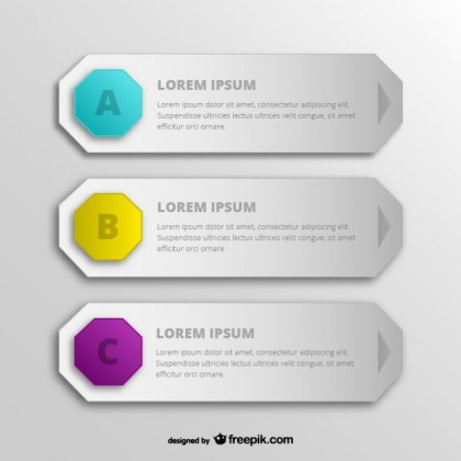 Hexagon Web Banners Free Vector