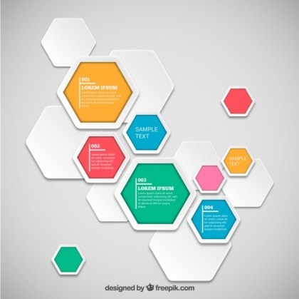 Hexagons Infographic Template Free Vector