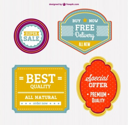 High Quality Badges Free Vector