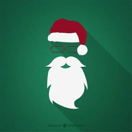 Hipster Santa Claus Free Vector