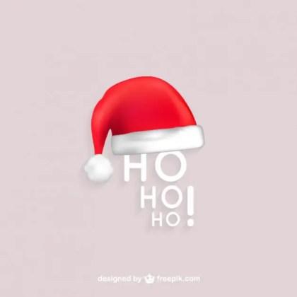 Ho Ho Ho Santa Free Vector