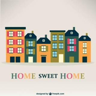 Home Sweet Home Vintage Free Vector