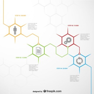 Honeycomb Infographic Template Free Vector
