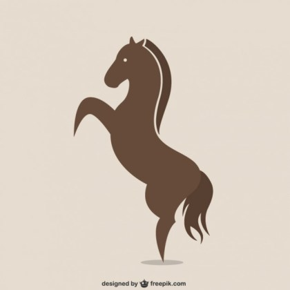 Horse Silhouette Logo Free Vector