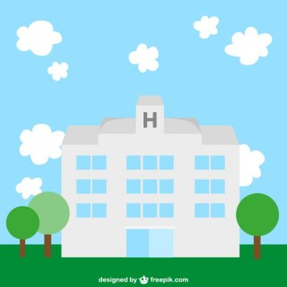 Hospital Flat Illustration Free Vector