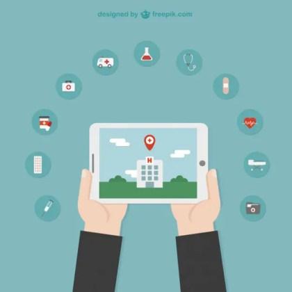 Hospital Location Illustration Free Vector