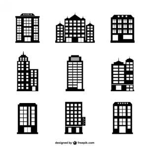 Hotel Buildings Set Free Vector