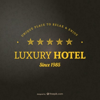 Hotel Logo Template Free Vector
