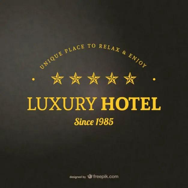 Hotel Logo Template Free Vector