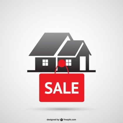House for Sale Logo Free Vector