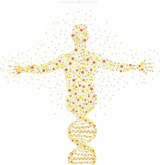 Human Figure Dots Illustration Free Vector