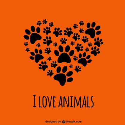 I Love Animals Template Free Vector