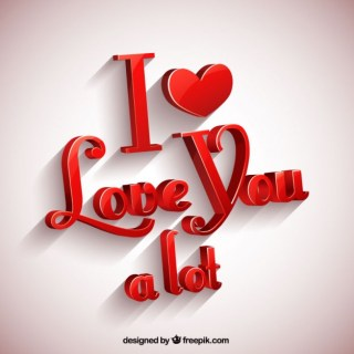 I Love You a Lot Greeting Card Free Vector