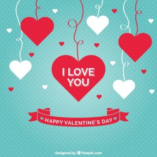 I Love You Card Free Vector