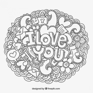 I Love You Message and Doodles Free Vector