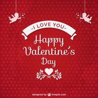 I Love You Valentines Card Free Vector