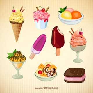 Ice Creams Art Free Vector