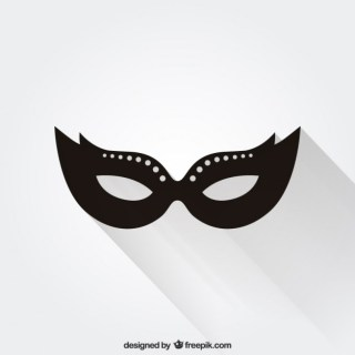 Icon Carnival Mask Free Vector
