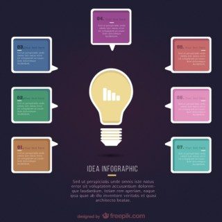 Idea Infographic Template Free Vector
