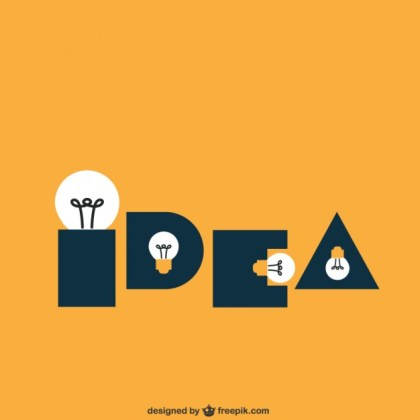 Idea Made of Light Bulbs Free Vector