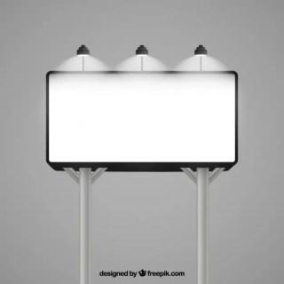 Illuminated Billboard Mockup Free Vector