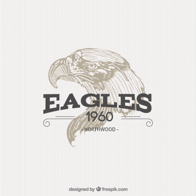 Illustrated Eagle Badge Free Vector