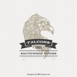 Illustrated Falcon Badge Free Vector